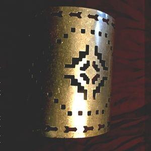 Frcee People Solid Brass Bohemian Aztec Cuff